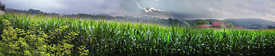Photograph - Country Cornfields by Debra and Dave Vanderlaan