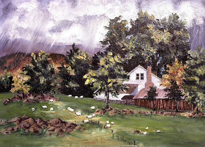 Painting - Country Cottage by Connie Williams