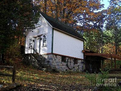 Country Cottage In Autumn Print by Desiree Paquette