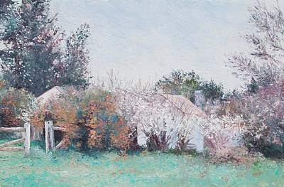 Cottage Garden Painting - Country Cottage In Spring Time by Jan Matson