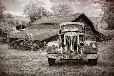 Photograph - Country Cousins In Black And White by Debra and Dave Vanderlaan