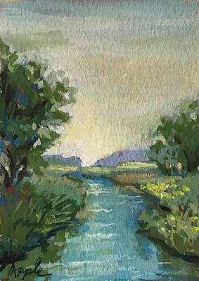 Painting - Country Creek by Linda Apple