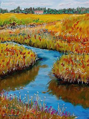 Painting - Country Creek by Mike Caitham