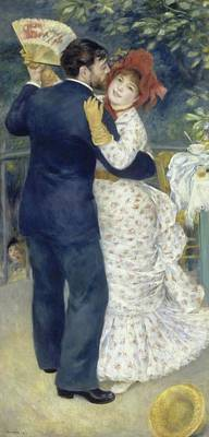 Country Dance Painting - Country Dance by Renoir