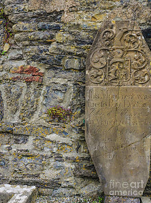 Photograph - Country Donegal Headstone by Lexa Harpell