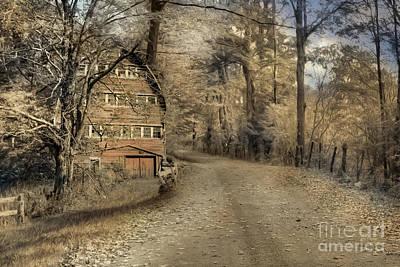 Barn Digital Art - Country Dreaming by Lori Deiter
