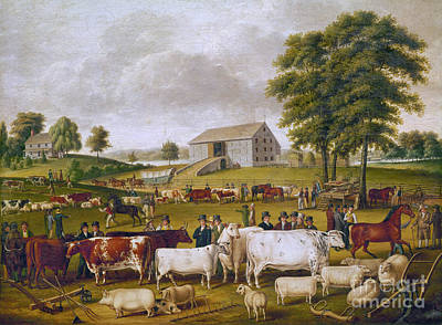 Photograph - Country Fair, 1824 by Granger