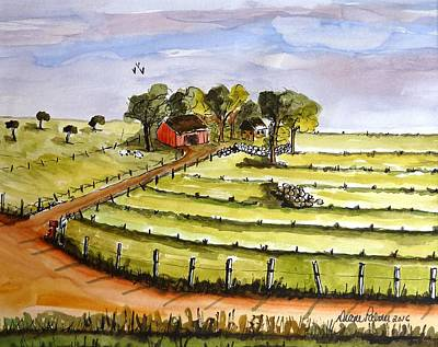 Country Farm Original by Diane Palmer