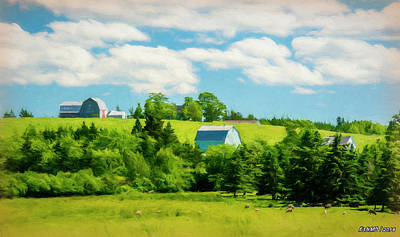 Digital Art - Country Farm In Nova Scotia by Ken Morris