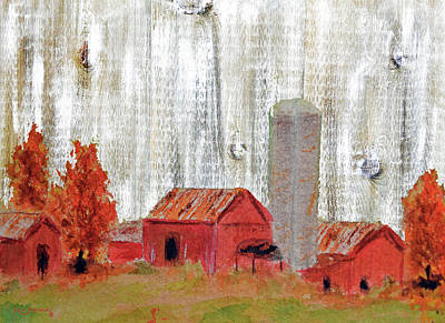 Canary Mixed Media - Country Farm Rustic Art by Ken Figurski