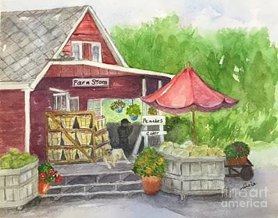 Painting - Country Farmer's Market by Lucia Grilletto