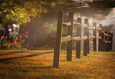 Photograph - Country Fence by Bernadette Chiaramonte