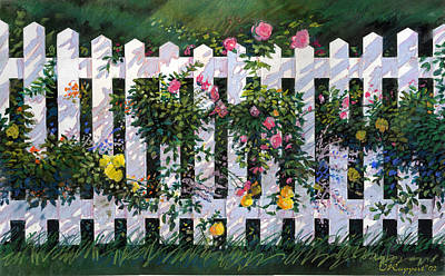 Country Fence Art Print by Valer Ian