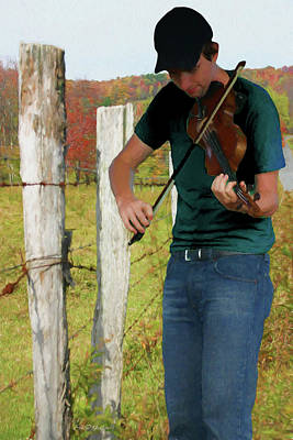 Photograph - Country Fiddler Painted by Ericamaxine Price