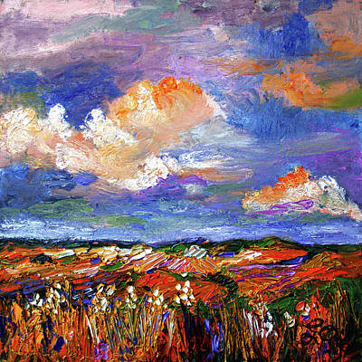 Painting - Country Fields Impressionist Landscape by Ginette Callaway