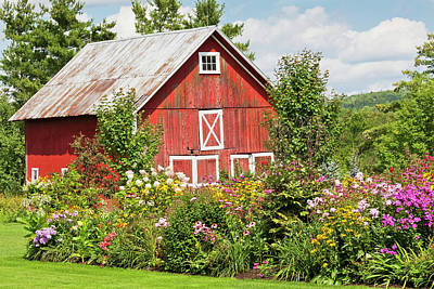 Photograph - Country Flower Garden by Alan L Graham