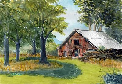 Painting - Country Framework by Dick Dee