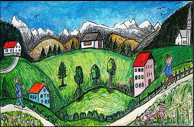 Folkart Mixed Media - Country Fun by Monica Engeler