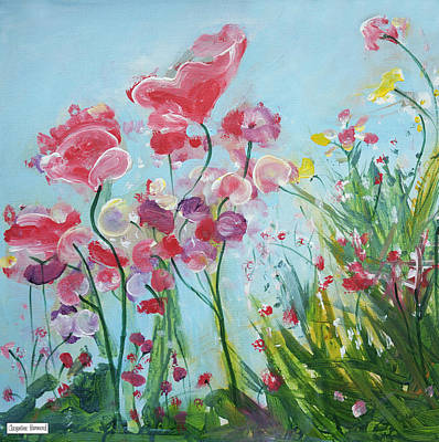 Painting - Country Garden Flowers by Jacqueline Hammond