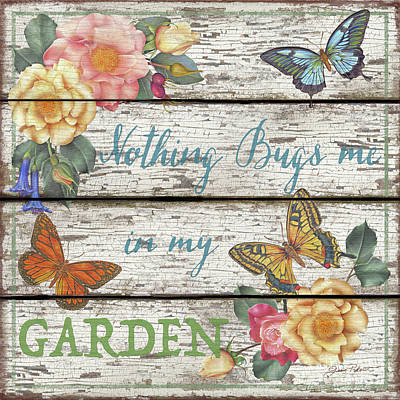 Painting - Country Garden Sign-a by Jean Plout