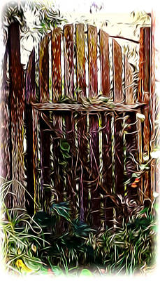 Mixed Media - Country Gate by Pamela Walton