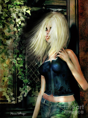 Digital Art - Country Girl by Alicia Hollinger