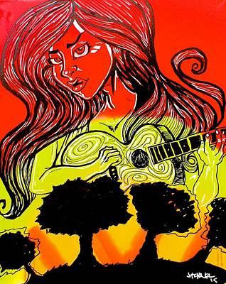 Fantasy Tree Mixed Media - Country Girl by Jason Turner