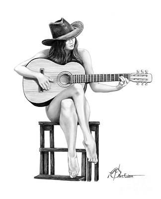 Drawing - Country Girl by Murphy Elliott