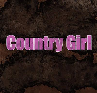 Digital Art - Country Girl Pink by Lisa Stanley