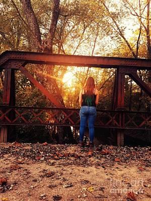 Country Girl Sunset Print by Scott D Van Osdol