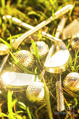 Metal Art Photograph - Country Golf by Jorgo Photography - Wall Art Gallery