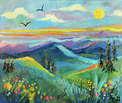 Painting - Country Hills by Jean Batzell Fitzgerald