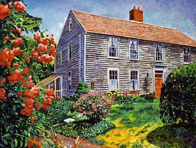 Americana Painting - Country House Cape Cod by David Lloyd Glover