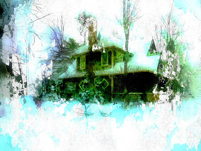 Photograph - Country House In Winter by Claire Bull