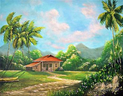Painting - Country House by Larry Geyrozaga