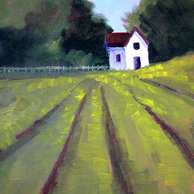 Painting - Country House by Nancy Merkle