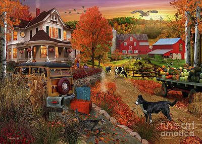 Country Inn And Farm Art Print by MGL Meiklejohn Graphics Licensing