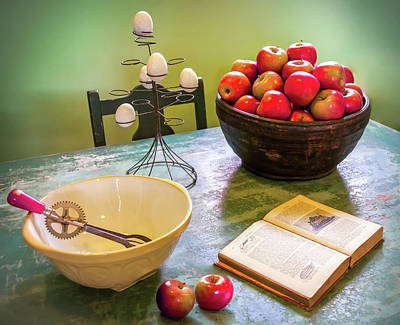 Mixing Bowl Photograph - Country Kitchen by Karen Wiles