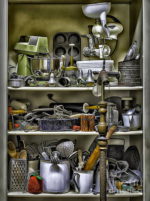 Photograph - Country Kitchen Pantry by Walt Foegelle