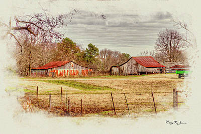 Digital Art - Country Landscape by Barry Jones