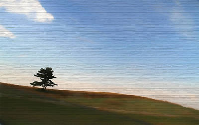 Mixed Media - Country Landscape Minimalism by Dan Sproul