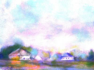 Digital Art - Country Landscape Sunrise by Frank Bright