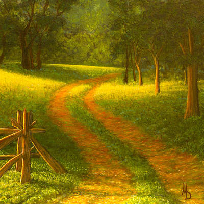 Comic Character Paintings - Country Lane by Marc Dmytryshyn
