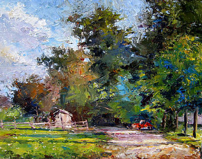 Country Lane Art Print by Mark Hartung