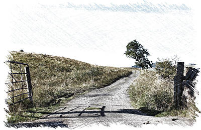 Photograph - Country Lane by RKAB Works
