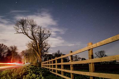Photograph - Country Lane Roadside Stars. by Robert Lane