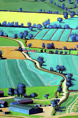 Farm Building Painting - Country Lane Summer II by Paul Powis