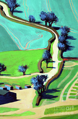 Country Lane Summer Art Print