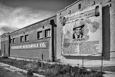 Art Print featuring the photograph Country Legend Bob Wills In Roy New Mexico by Mary Lee Dereske
