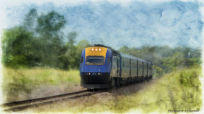 Photograph - Country Link Train 01 by Kevin Chippindall